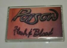 Vintage 1990 Glam Rock POISON Flesh & Blood Tattoo Cover Cassette Tape