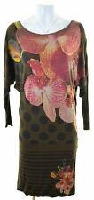 DESIGUAL Womens Drop Waist Dress Size 10 Small Multicoloured Oversized KK04