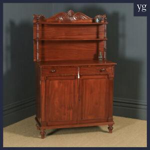 Antique English Georgian Regency Two Door Chiffonier Cabinet Sideboard Cupboard