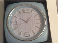 Pendule Horloge vintage bleue seventies 60's 70's US Sixties Diner rétro