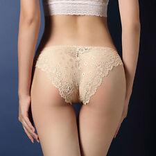 Women's Lace Lingerie Briefs Knickers G-string Thongs Panties Underwear  8-10