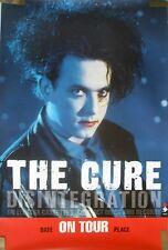 Rare The Cure 1989 Vintage Original Disintegration On Tour Music Promo Poster