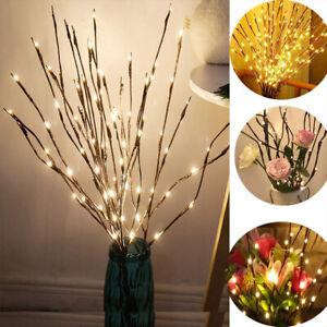 LED Lichterzweige 60 oder 20 led Weiden-Zweige beleuchtet Trafo Deko Zweige DHL