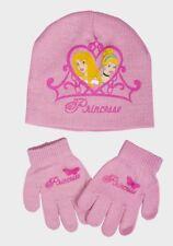 NEW Official Disney Princess Girls Pink Hat & Gloves Set  - Age 5 - 8 (54cm)