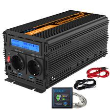 Convertisseur pur sinus 1500W 3000W 12V 220V Onduleur multifonction LCD USB