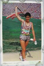 NITF SIGNED ☆ Vintage NIKE Running Poster ☆ Joan Benoit ☆ LA 1984 ☆ Olympic Gold