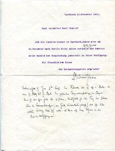 RICHARD STRAUSS, orig. Autograph, Brief, 1916, Rosenkavalier, letter signed