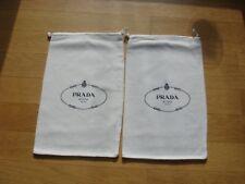 2 Prada Taschenbeutel Staubbeutel 33 x20.5 cm  Schmutzbeutel weiß