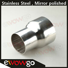 """3""""  TO 4"""" INCH WELDABLE TURBO/EXHAUST STAINLESS STEEL REDUCER ADAPTER PIPE"""