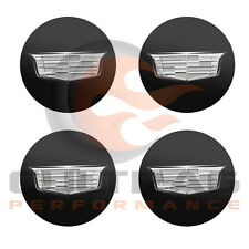 2015-2018 Cadillac CTS GM Black Center Cap Silver Crest Set Of 4 19329257