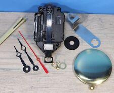 "Quartz Battery Pendulum Clock Movement Lifetime Warranty 5/8"" Dial Terry W/Pend"