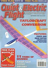 QUIET & ELECTRIC FLIGHT INTERNATIONAL MAGAZINE 2002 SEP FANJET TRAINER FREE PLAN