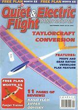 QUIET & ELECTRIC FLIGHT INTERNATIONAL MAGAZINE 2002 SEP FANJET TRAINER FREE PLAN