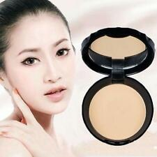 Pressed Face Powder Dry Foundation Concealer Whitening Looser Makeup+Puff·~