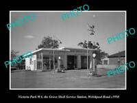 OLD HISTORIC PHOTO OF VICTORIA PARK WEST AUSTRALIA SHELL OIL PETROL STATION 1950