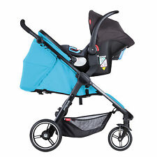 Phil&Teds Smart 3 Travel System in Cyan with Stroller & Alpha Car Seat!!