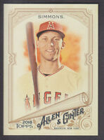 Topps - Allen & Ginter 2018 - Base # 58 Andrelton Simmons - Los Angeles Angels