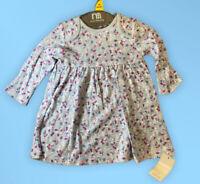 baby girls Cream nutmeg dungarees pinafore cotton denim summer dress Up to 3 yrs