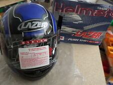 MOTORCYCLE HELMET LZ6 SPIDER LAZER EXTRA SMALL (XS) BLACK BLUE R18