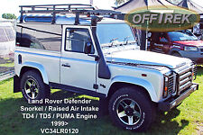 LAND Rover Defender si adatta a 1999 > TD5 & TD4-presa d'aria rialzato Snorkel VC34LR0120