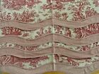 Waverly++4+Toile+Country+Life+Red+Valance+Layered+Check+Scalloped+80%22+X+17%22+