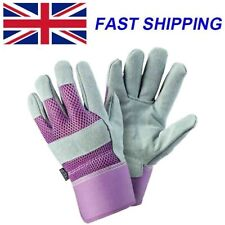 Briers Ladies Breathable Leather Gardening Gloves Tuff Rigger Thorn Proof Gloves