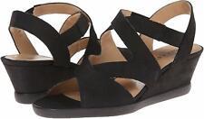 NWB Sesto Meucci Women's Noreen Black Wedge Sandals size:8 ($160)