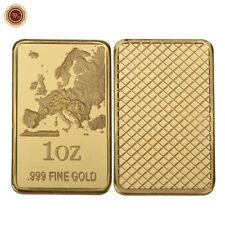WR 24K Gold Art Bar /w Territory Ingot Bullion Design Collectable Gifts for Him