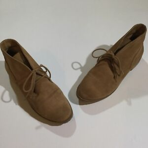 Lucky Brand Womens Size 6.5 Garboh Round Toe Lace Up Suede Bootie In Tan Brown