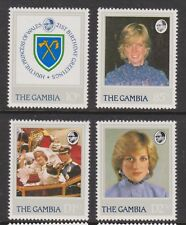1982 Princess Diana 21st Birthday MNH Stamp Set The Gambia SG 476-479