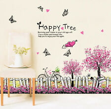 The Cherry Blossom Fence Removable Baseboard Wall Sticker Vinyl Room Home Decor