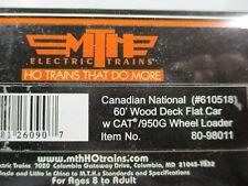MTH #80-98011 CN 60' Wood Deck Flat Car w/CAT 950G Wheel Loader HO Scale NEW