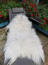 Sheepskin Rug UNIQUE OFF White Grey&Light Cream Large 125 CM NEW!