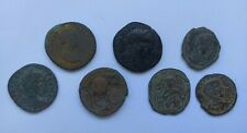 More details for lot of 7 mixed ancient roman/byzantine bronze coins ii-xi century ad good sizes