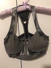 Bloch Size S Grey Zip Front Crop Top Dance Gym New NWOT
