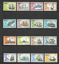 1972 Stamps Christmas Island Ships  x 16 Mint Never Hinged 1c to $1