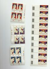 CANADA CHRISTMAS 1986 ANGELS INCL PANE WITH PLATE BLOCKS  FV $8.54
