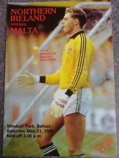 Northern Ireland v Malta - World Cup Qualifier Group 6 21May88