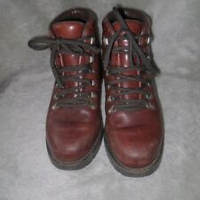 Mens Brown Lace Up Polo Sport Ralph Lauren Hiking Boots Leather Size 7 1/2D