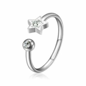 Sagapo anello donna in acciaio regolabile Stella SCK89 S'agapo