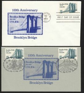 1983 Brooklyn Bridge 100 yrs Sc 2041 KB 1st cachet and dedication card