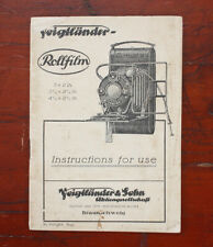 Voigtlander Rollfilm Instruction Book/182712