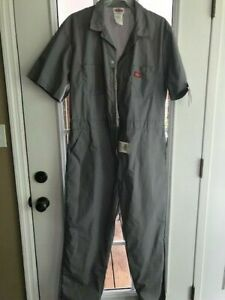Dickies Men's Short Sleeve Coveralls Comfort Elastic Waist Work Men's Sz. 46 Rg.