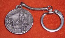 Porte-clé Keychain GAZ de France + Corse SERVICE PUBLIC plaque Égout Métargent