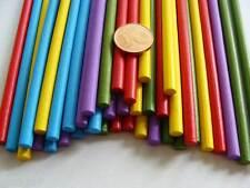 40 Bâtons bois Bâtonnets rond 13x0,5cm mix couleurs pour collage loisirs DIY