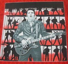 ELVIS Presley Guitar 1968 Special Pillow Panel Fabric PP 17x17 red OOP cotton