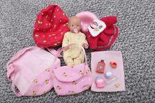 Baby Born Doll Mini Zapf Creation Vintage Accessories Bundle RARE