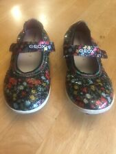 GEOX GIRLS YOUTH SIZE 1 BEAUTIFL FLORAL SHOES