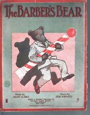 Barber's Bear, The 1912 Large Format Sheet Music