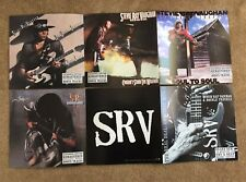 "6 Stevie Ray Vaughn 12""sq Poster Flats 2Strips 3Each Double Trouble In Step SRV"